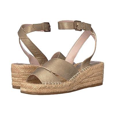 Nine West Edwisha Wedge Sandal (Light Gold) Women