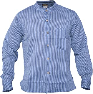 026684d9807a8 Gheri Men s Button Down Striped Grandad Nepalese Shirts