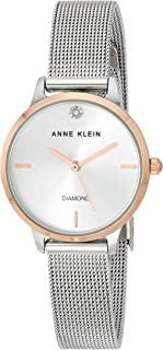 Anne Klein Women's Genuine Diamond Dial Mesh Bracelet Watch