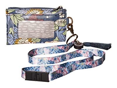 Sakroots Artist Circle ID Lanyard (Denim Flower Power) Wallet