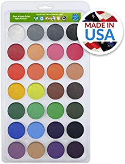 Vegan Face Paint Kit - TOP 28 Color Palette - Face Paints 280 FULL FACES (Volume Painting) - Made in the USA - Hypo-allergenic, Paraben Free!