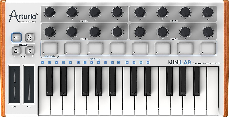 Amazon.com: Arturia MiniLab 230401 25-Key Mini USB/MIDI Keyboard Controller  with Software: Musical Instruments