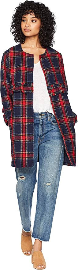 Swag Out Plaid Ruffle Coat