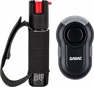 SABER قرمز دونده فلفل ژله - قدرت پلیس با تنظیم بند دست بند (حداکثر حرارت W / 35 انفجار) - همراه w / اختیاری هشدار شخصی SABER / کلیپ و نور LED (120dB زنگ هشدار به 600 '، 185 متر دور)