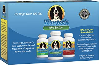 Winston's Joint System - for Large Dogs Over 100 Pounds - 100% Natural Whole Food Supplement System for Canine Arthritis, Hip Dysplasia and Joint + Pain Relief - One Month Supply (100+ Lbs)