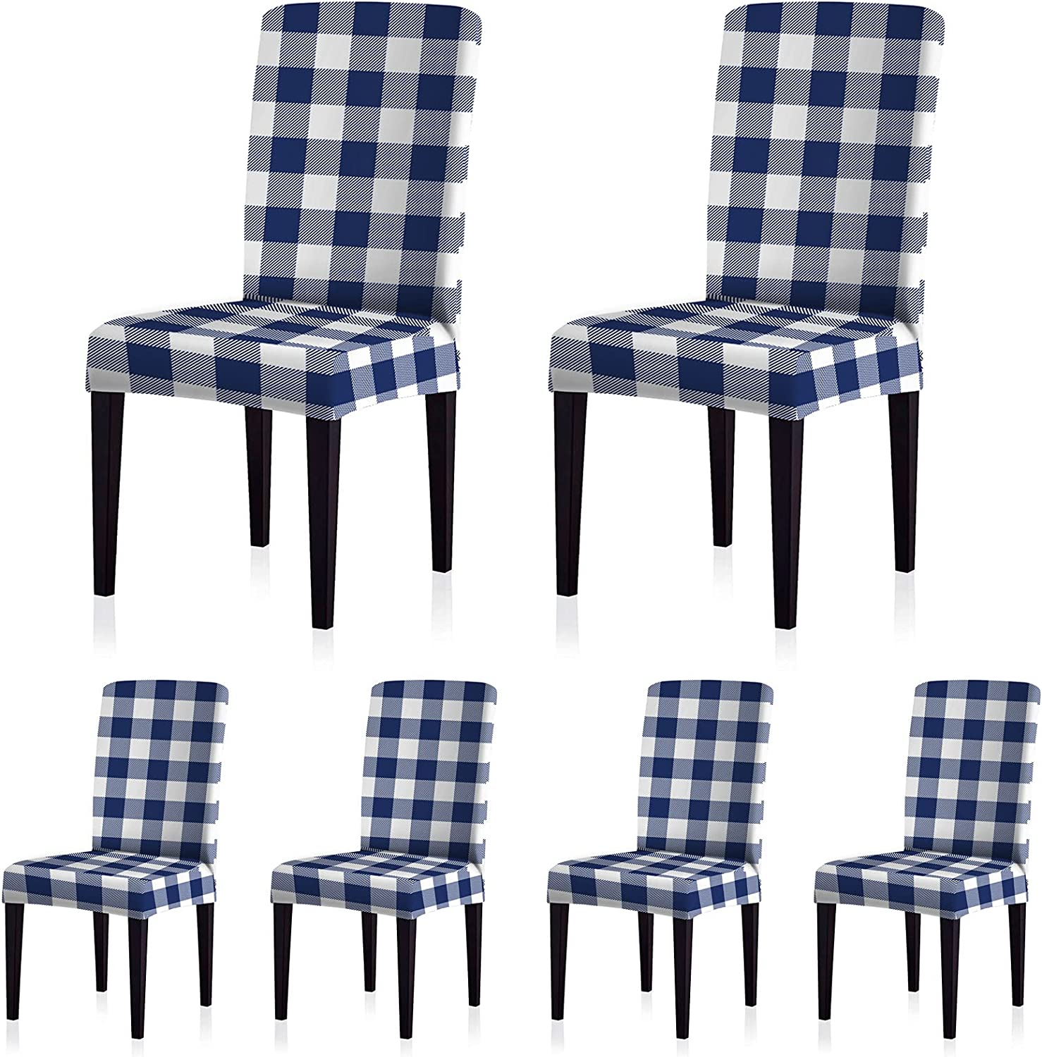 ColorBird Buffalo Check Spandex Max 47% OFF Chair Max 64% OFF Removable Unive Slipcovers