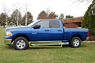 Owens Products 3182 Glastep Plus Custom Molded Running Boards 09-18 Ram 1500/2500/3500 W/Flares Crew Cab Fiberglass Gray