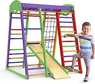 Indoor Playground Toddler Climber Slide – Kids Jungle Gym Playset – Activity Toddler Climber Structure – Play Gym Swedish ...