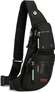 Sling Bag Chest Shoulder Backpack Fanny Pack Crossbody Bags for Men (black)