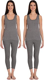 Selfcare Women Poly Cotton Thermal Top and Pyjama Set (Pack of 2 Set)
