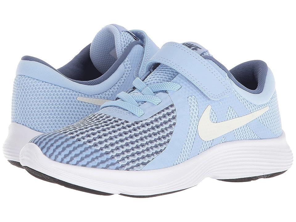 Nike Kids Revolution 4 (Little Kid) (Royal Tint/Metallic Summit White/Diffused Blue) Girls Shoes