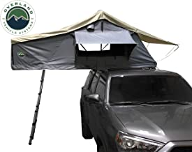 Overland Vehicle Systems Nomadic 2 Extended Roof Top Tent - Dark Gray Base with Green Rain Fly & Black Cover Universal