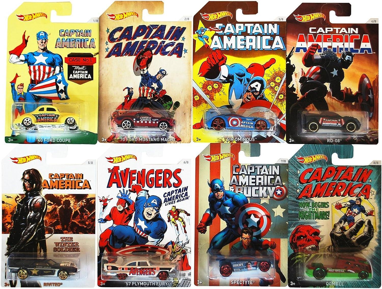 Todo en alta calidad y bajo precio. Mattel Hot Wheels DJK75 - Vehículos Capitán Ameríca, modelos surtidos, surtidos, surtidos, 1 unidade  en stock