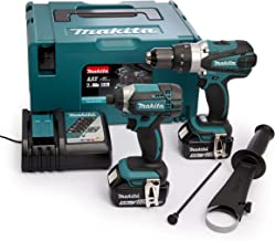 Makita 18 V 2 x 5 Ah Li-Ion Martillo Drill/Impact Driver Kit, 1 pieza, dlx2145tj