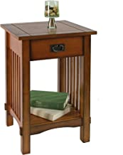 Furniture of America Liverpool 1-Drawer End Table, Antique Oak