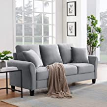 Tribesigns 3-seat Sofa Couch, Modern Breathable Plush Fabrics Sofa Loveseat for Home Living Room Apartment Small Space (Li...