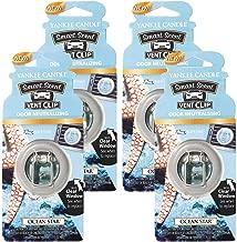 Yankee Candles Car Freshener Smart-Scent Vent Clips, 4-Pack (Ocean Star)