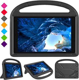 Case for H D 10 Tablet (5th Gen, 2015 Release / 7th Gen, 2017 Release),Kids Friendly Shock Proof Light Weight Convertible Handle Stand Case Cover for H D 10.1 Inch Tablet (Black)