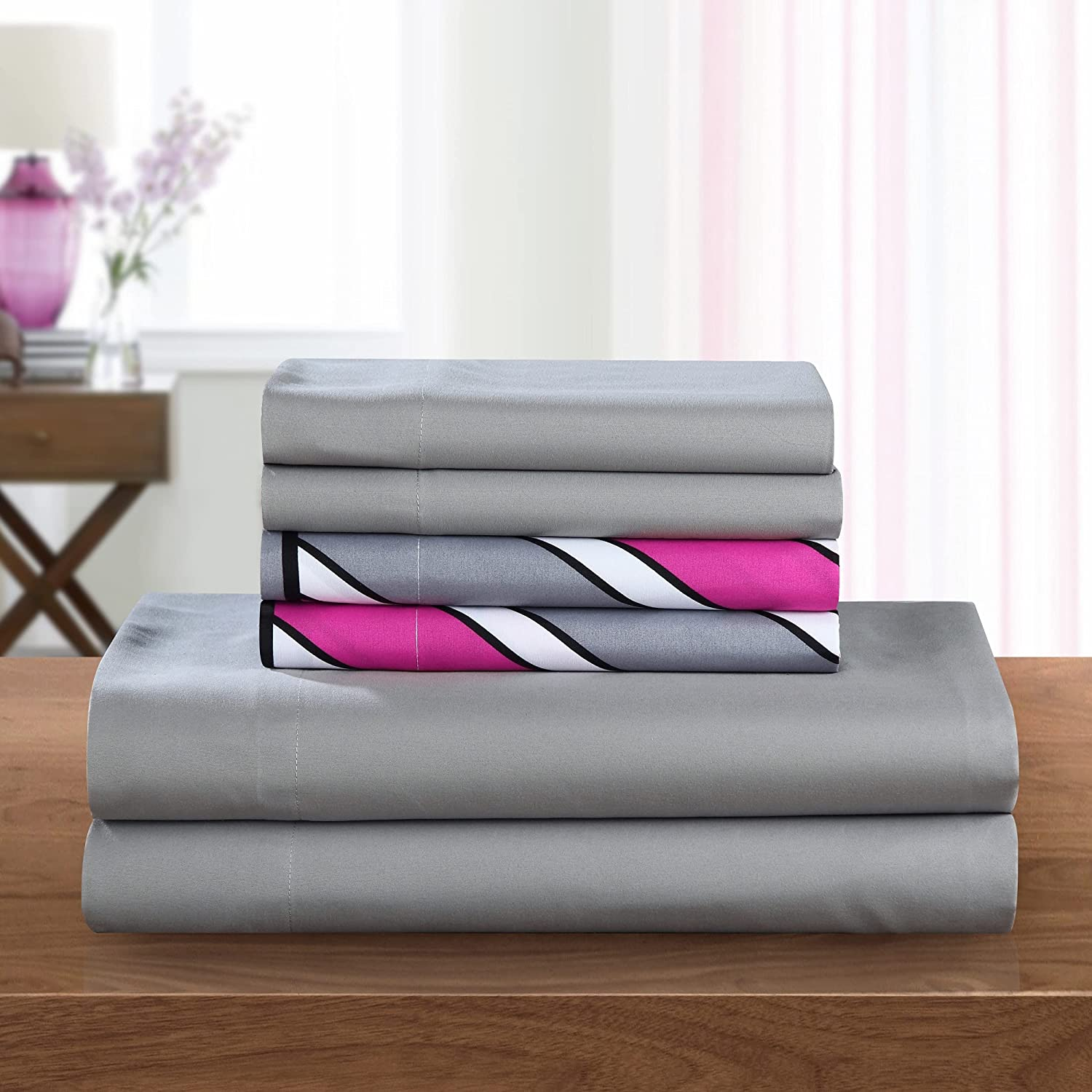 Chic Arlington Mall Home SS5230-AN 6 Piece Excellent Brushed Solid Soft Super Microfiber
