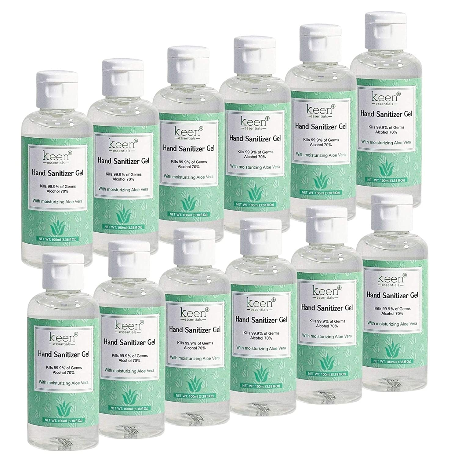 KEEN Hand Sanitizer Gel Credence 70% Alcohol Aloe with of Vera 12 Pack Under blast sales