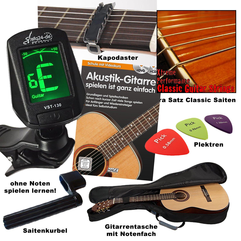 Andaluza - Guitarra clásica de concierto (tamaño 4/4, tapa de ...