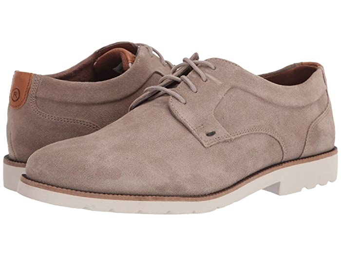 Rockport  Sharp and Ready 2 Plain Toe (Sand Suede) Mens Shoes