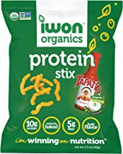 IWON Organics Tapatio Jalapeno Sour Cream Flavor Snack Stix, High Protein and Organic Healthy Snacks, 8 Bags, 1.5 Ounce