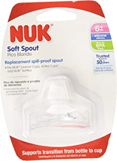 3 Packs of NUK Replacement Silicone Spout, Clear