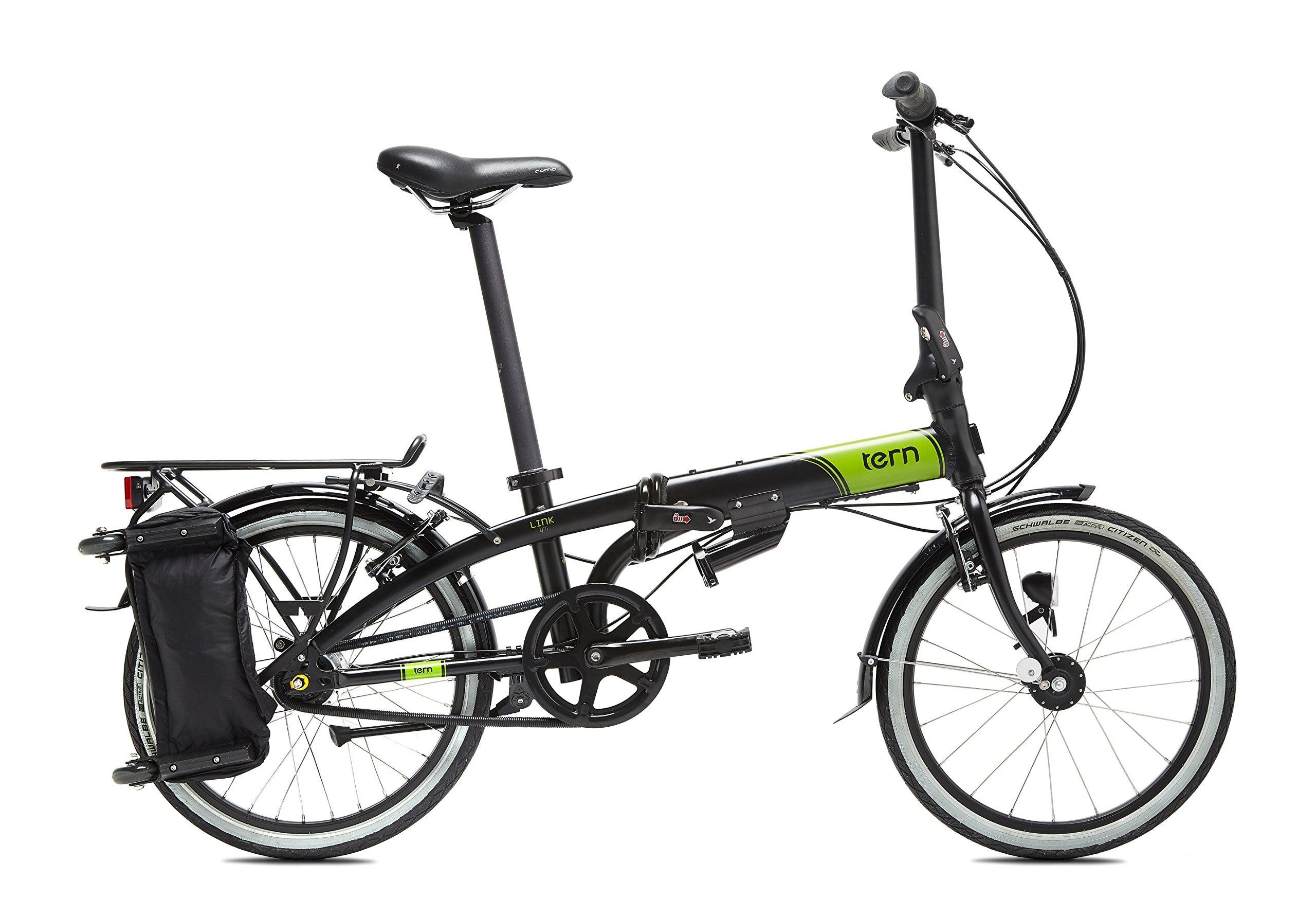 Tern Link D7i Bicicleta, Unisex Adulto, Negro, Talla Única: Amazon ...