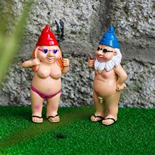 Funny Garden C Statue,Naughty Peeing Dwarf N-if-and Goblin Gnome Figurine,Resin Gnome Sculpture Garden Decoration,Fairy Ga...