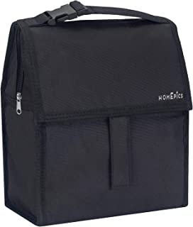 Premium Quality Freezable Lunch Bag / Bottle and Can Cooler 10inch stays cold up to 10 hours with built in ice gel packs Foldable & Reusable, includes Adjustable carrying Strap for easy carry