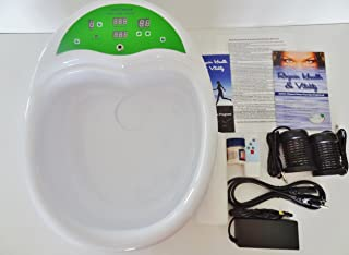 Ionic Ion Cleanse Detox Foot Spa Chi Bath. Fully Integrated Unit with Heavy Duty Acrylic