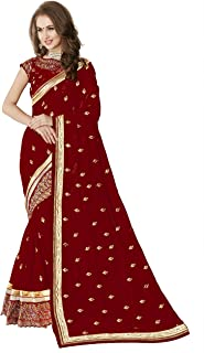 fe057c4e54 Reds Women's Sarees: Buy Reds Women's Sarees online at best prices ...