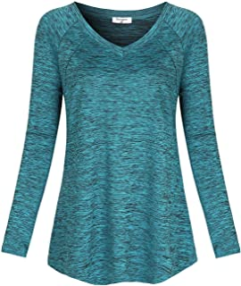 Soogus Women's Yoga Tops Dri Fit Activewear Moisture Wicking Workout Shirts