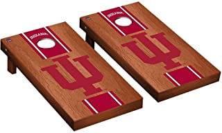 Victory Tailgate Regulation Collegiate NCAA Rosewood Stained Stripe Series Cornhole Board Set - 2 Boards, 8 Bags - 600+ Teams Available