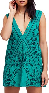 Womens Embroidered Shift Dress