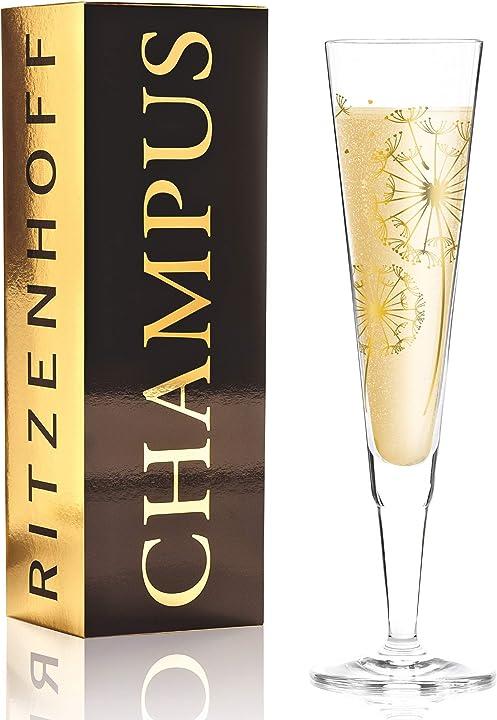 Flute da champagne in cristallo di andrea hilles, in cristallo, 200 ml ritzenhoff 1070255
