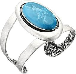 Oval Stone Cuff Bracelet