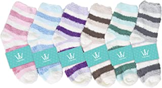 Women Soft Winter Plush Warm Fuzzy Anti-Skid Slipper Socks 30+ Combo