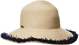 San Diego Hat Company - PBM1042OS Paperbraid w/ Pop Color Frayed Raffia