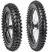 TDPRO Front 70/100-17 + Rear 90/100-14 Wheels Tires For Dirt Pit Bikes | 2.75x17 & 3.5-14 Tires and Rims Inner tubes with 15mm Bearings Motocross Off Road