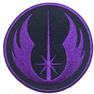 Miltacusa Star Wars Jedi Order Embroidered Morale Patch (Hook Fastener-Purple)