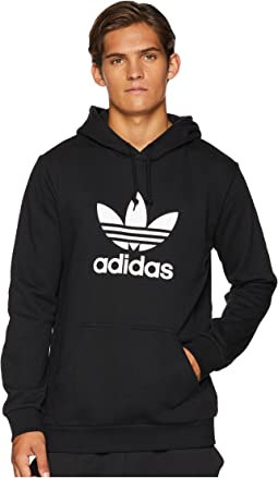Buy Adidas Originals Black Trefoil Fleece Hoodie for Men