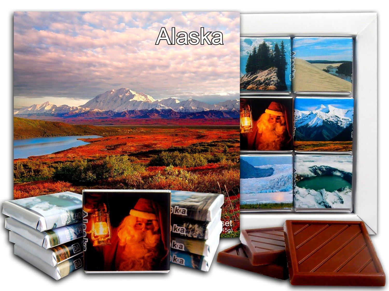 5 ☆ very popular DA Fresno Mall CHOCOLATE Candy Souvenir ALASKA Gift Chocolate 5x5i State Set