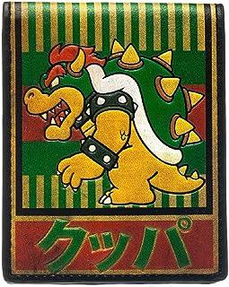 Nintendo Wallet Bowser Kanji Super Mario Gamer Official New Bifold Size One Size Multi