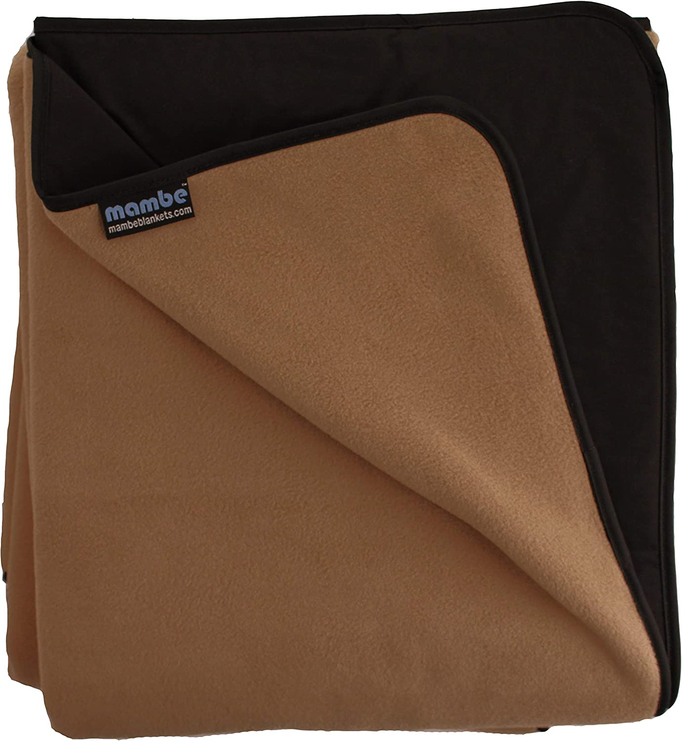 Mambe Large Essential 100% Waterproof Windproof Stadium, Camping, Picnic and Outdoor Blanket Made in The USA