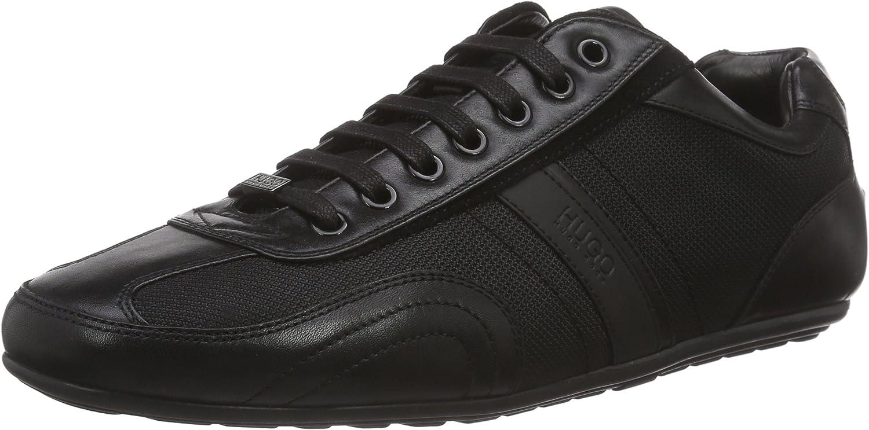 Hugo Boss Footwear Thatoz Black Fabric Leather Trainer
