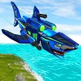 Real Robot Shark Fighting Simulator: Robotertransformationsspiele