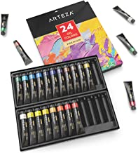 ARTEZA Oil Paint, Set of 24 Colors/Tubes (24x12ml/0.4oz) with Storage Box, Rich Pigments, Vibrant, Non Toxic Paints for The Professional Artist, Hobby Painters & Kids, Ideal for Canvas Painting