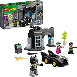 LEGO DUPLO Batman Batcave 10919 Action Figure Toy for Toddlers; with Batman, Robin, The Joker and The Batmobile; Great Gif...